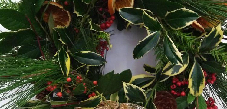 home-made wreath